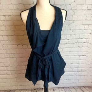 Anthropologie Waterfall Belted Tank Top